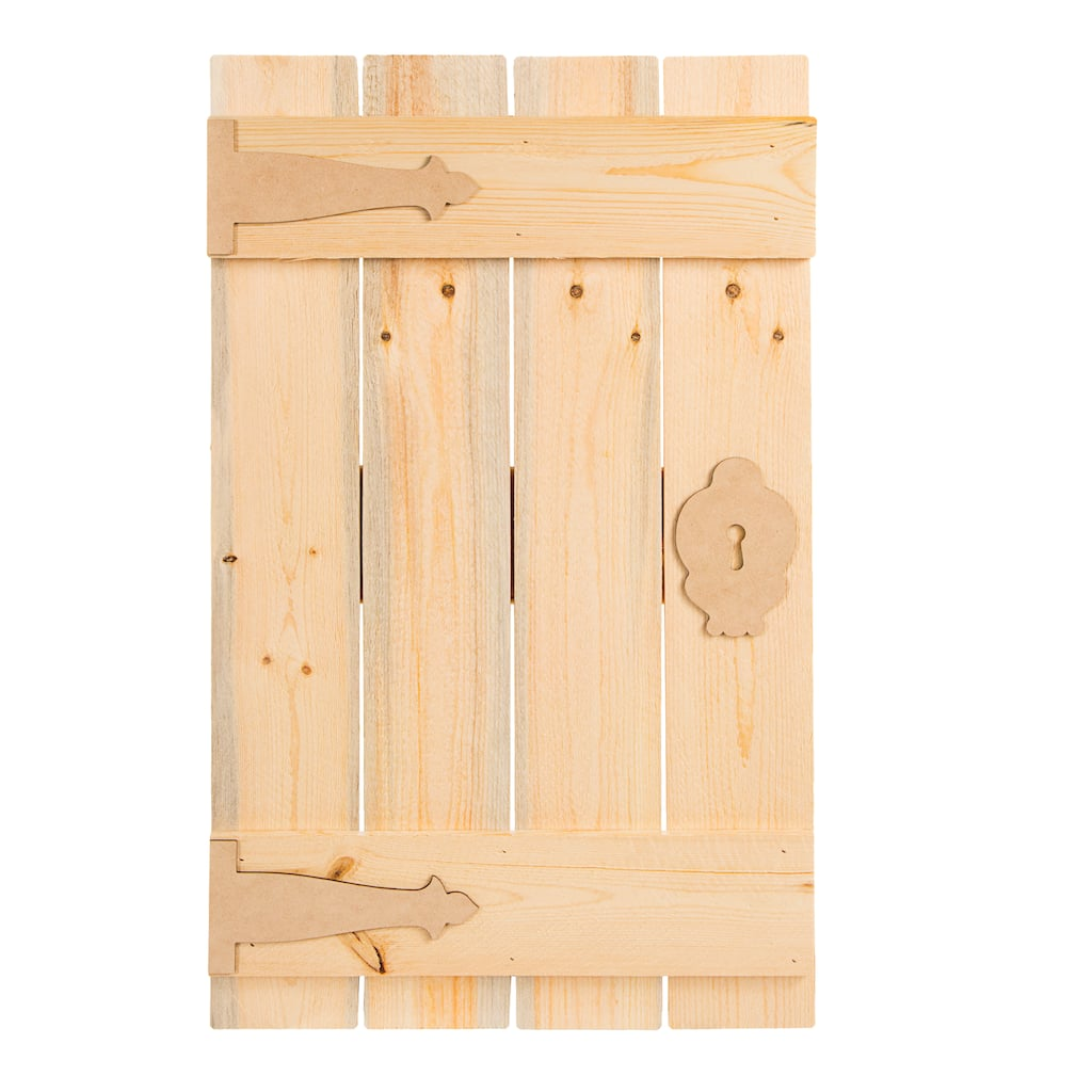 Find The Darice Unfinished Wood Pallet Door At Michaels