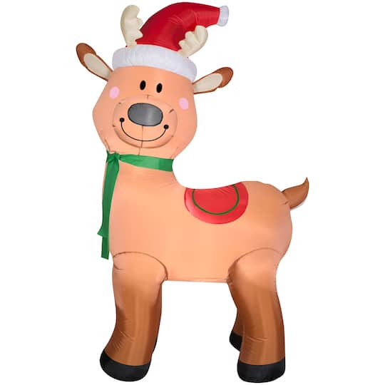 6Ft Airblown� Inflatable Christmas Reindeer By Gemmy Industries | Michaels�