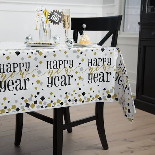 New Years Eve Plastic Tablecloth | New Years Eve Party ...