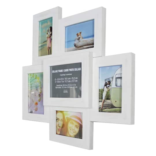 6 Opening White Collage Frame By Studio