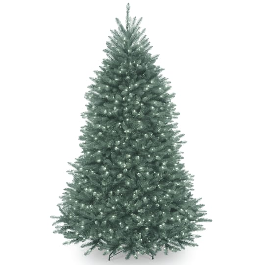 Artifical Christmas Trees.6 5ft Dunhill Blue Fir Artificial Christmas Tree Clear Lights