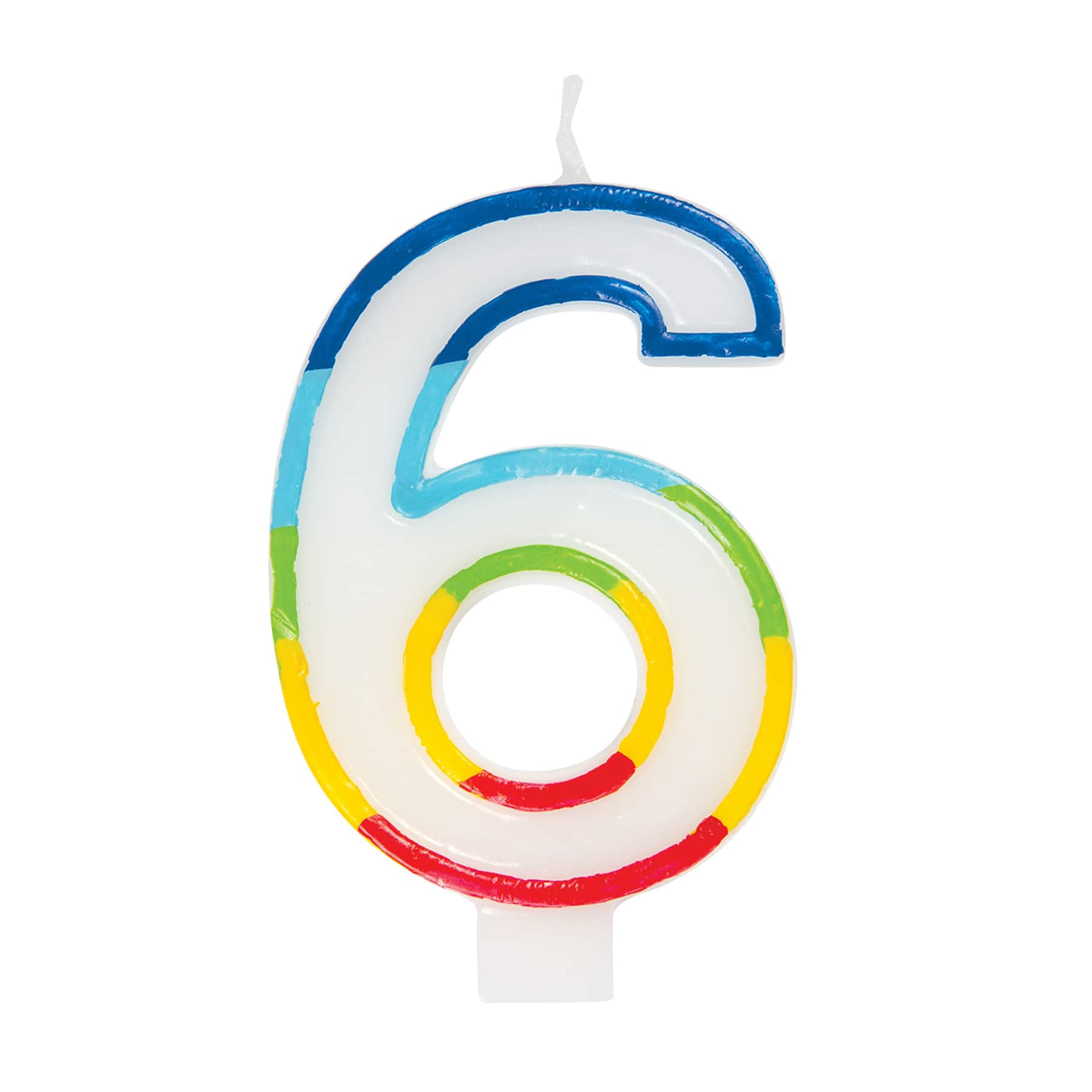 bulk buys birthday candle number six case of 25