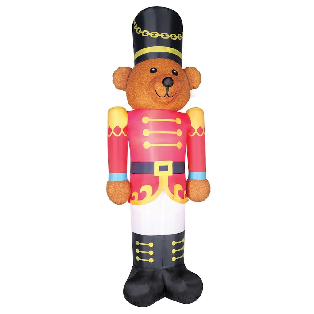 Find the 9ft. Airblown® Inflatable Christmas Fuzzy Bear Soldier at ...