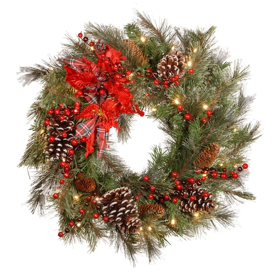 "Christmas Berry Tree Hawaii: Find The 24"" Decorative Collection Cones, Red Berries"