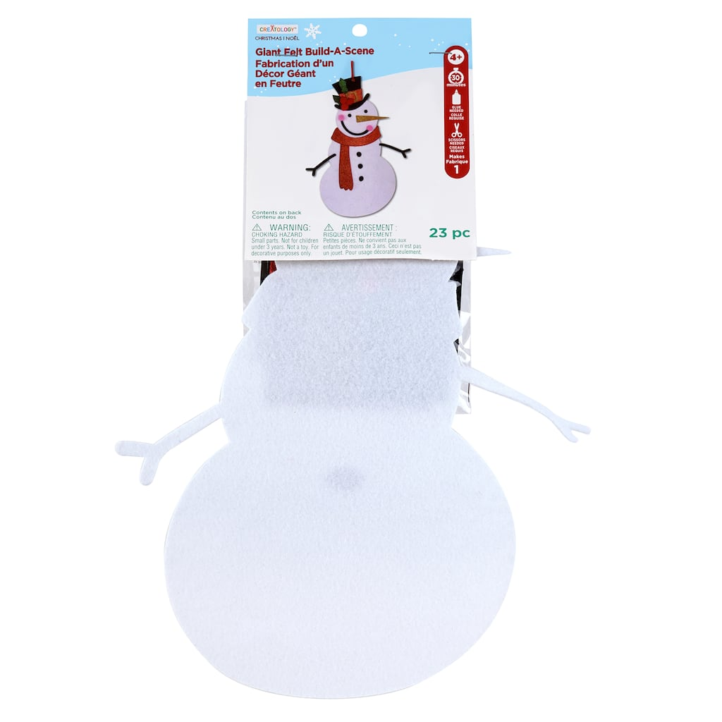 Shop for the Snowman Giant Felt Deco Kit By Creatology™ at Michaels