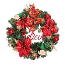 24 elf ornament wreath - Michaels Christmas Wreaths
