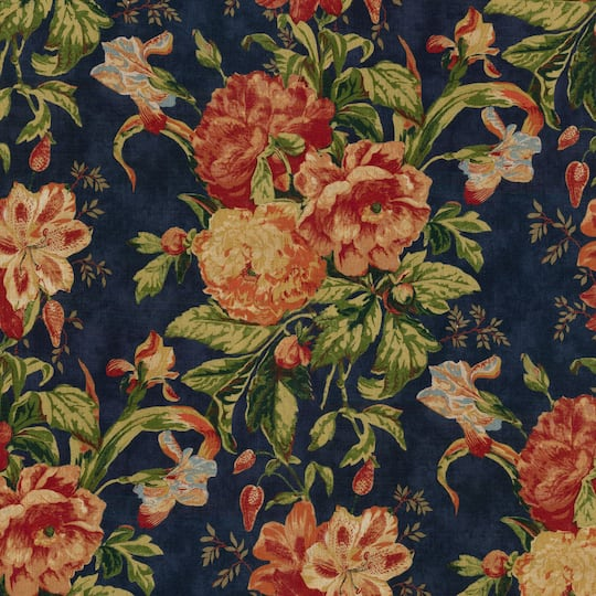 Look For The Waverly Kensington Bloom Linen Gem Floral Home Decor Fabric At Michaels