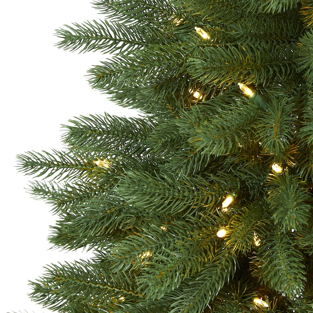 5ft. Pre-Lit Napa Valley Pine Artificial Christmas Tree ...