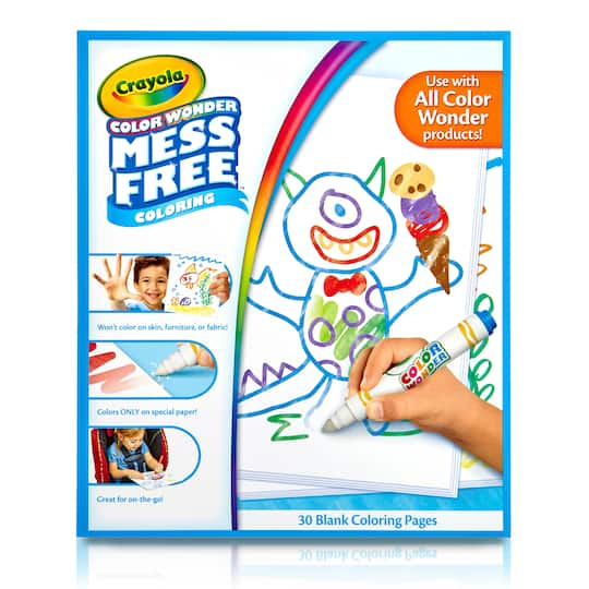 Crayola Color Wonder Mess Free Blank Coloring Pages 30ct Michaels
