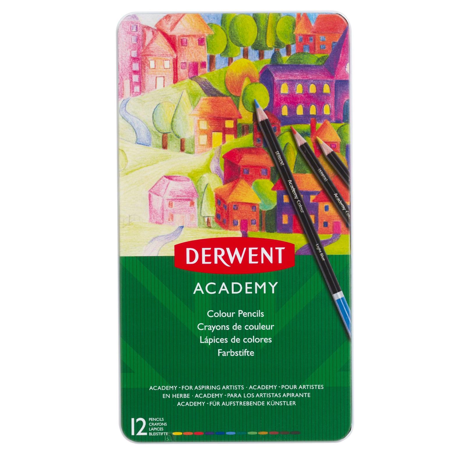 Derwent Academy Crayons Lot de 6