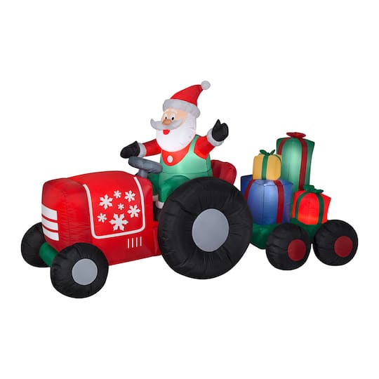 8.5Ft Airblown� Inflatable Santa On Tractor By National Tree Company | Michaels�
