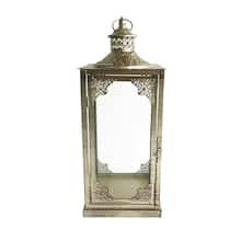 """Shop 18.1"""" Gold Vintage Metal Lantern by Ashland® from Michael's on Openhaus"""