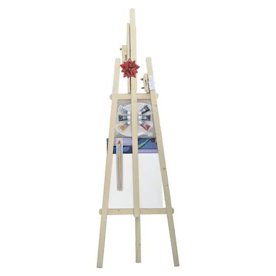 Wooden Floor Art Easel Kit By Artist S Loft