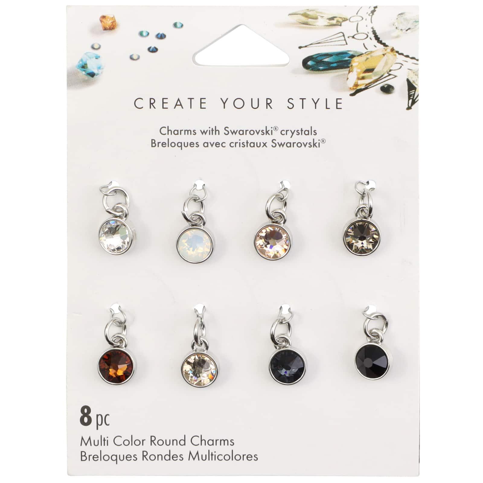 Swarovski® Create Your Style Neutral Round Crystal Charms