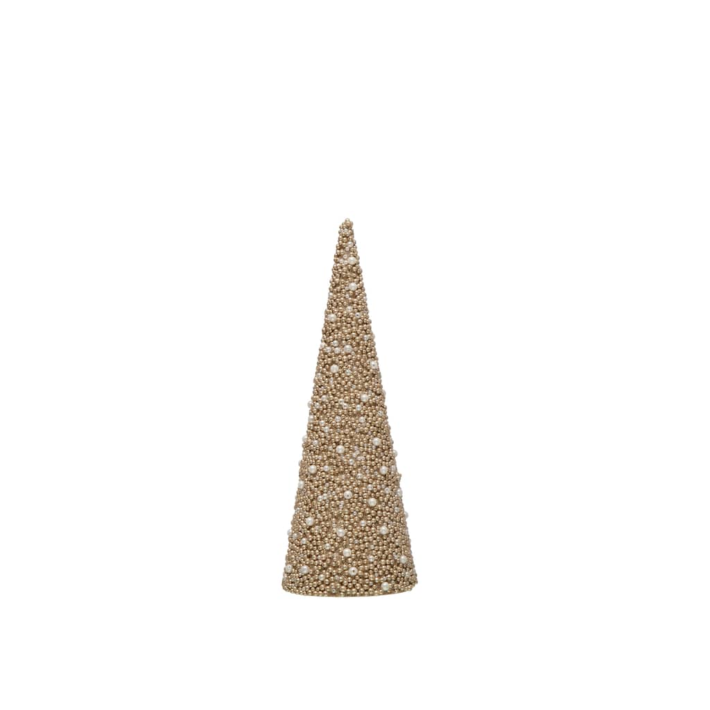 "13.75"" Champagne Tabletop Cone Tree By Ashland® by Ashland"