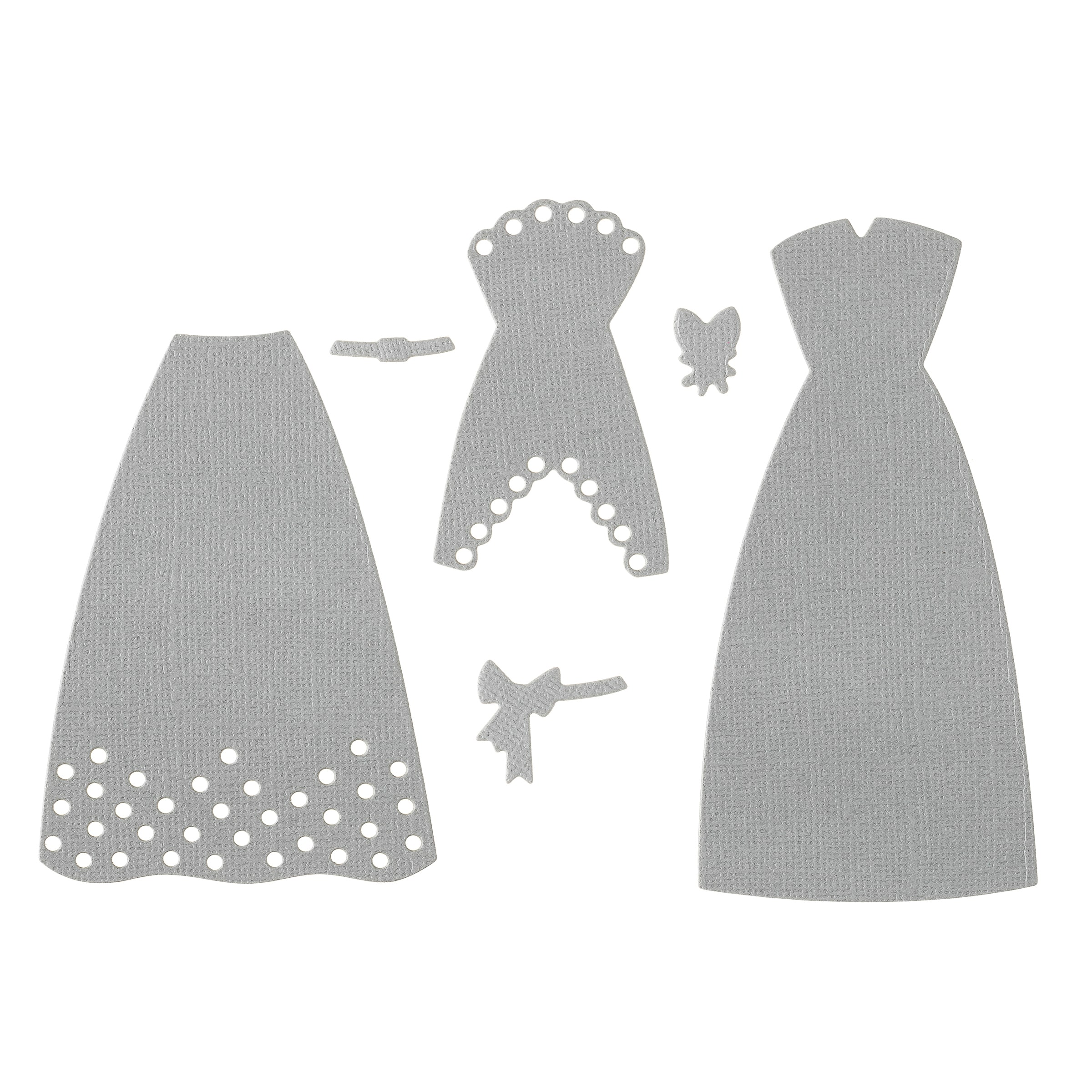 DRESS STAND WITH DRESS DIE CUTS FOR CARD TOPPERS