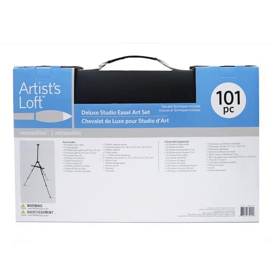 101 Pc Deluxe Easel Art Set By Artist S Loft