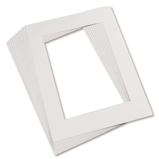 White 9 X 12 Pre Cut Mat Frames 12ct