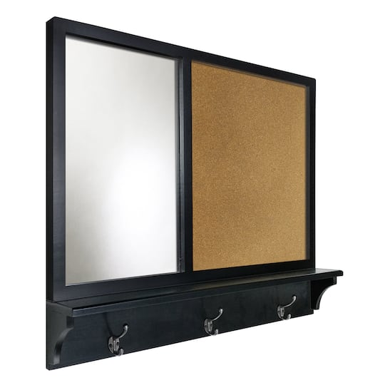 Shop For The Big Black Mirror Cork Board With Shelf By Ashland At