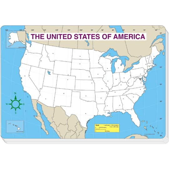 Buy The U S Map Jumbo Pad 6 Pads Of 30 Sheets At Michaels