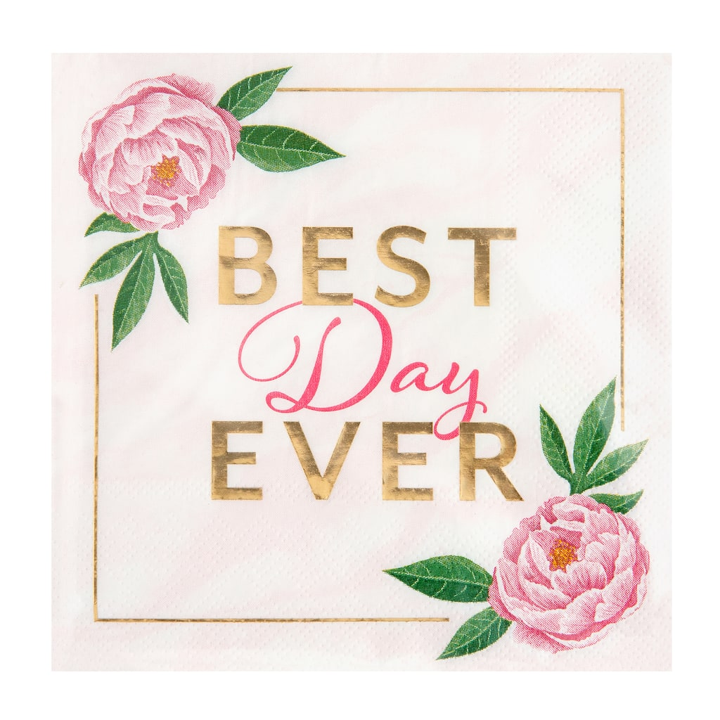 Best Day Ever Beverage Napkins By Celebrate It Spring 24ct Michaels