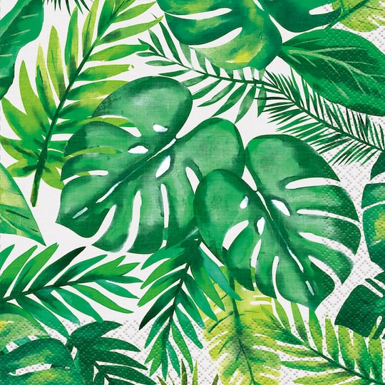 Summer Palm Leaves Paper Napkins Palm Tropical Luau Party Supplies Your favourite piece from our refreshed classic collection? palm tropical luau luncheon napkins 16ct