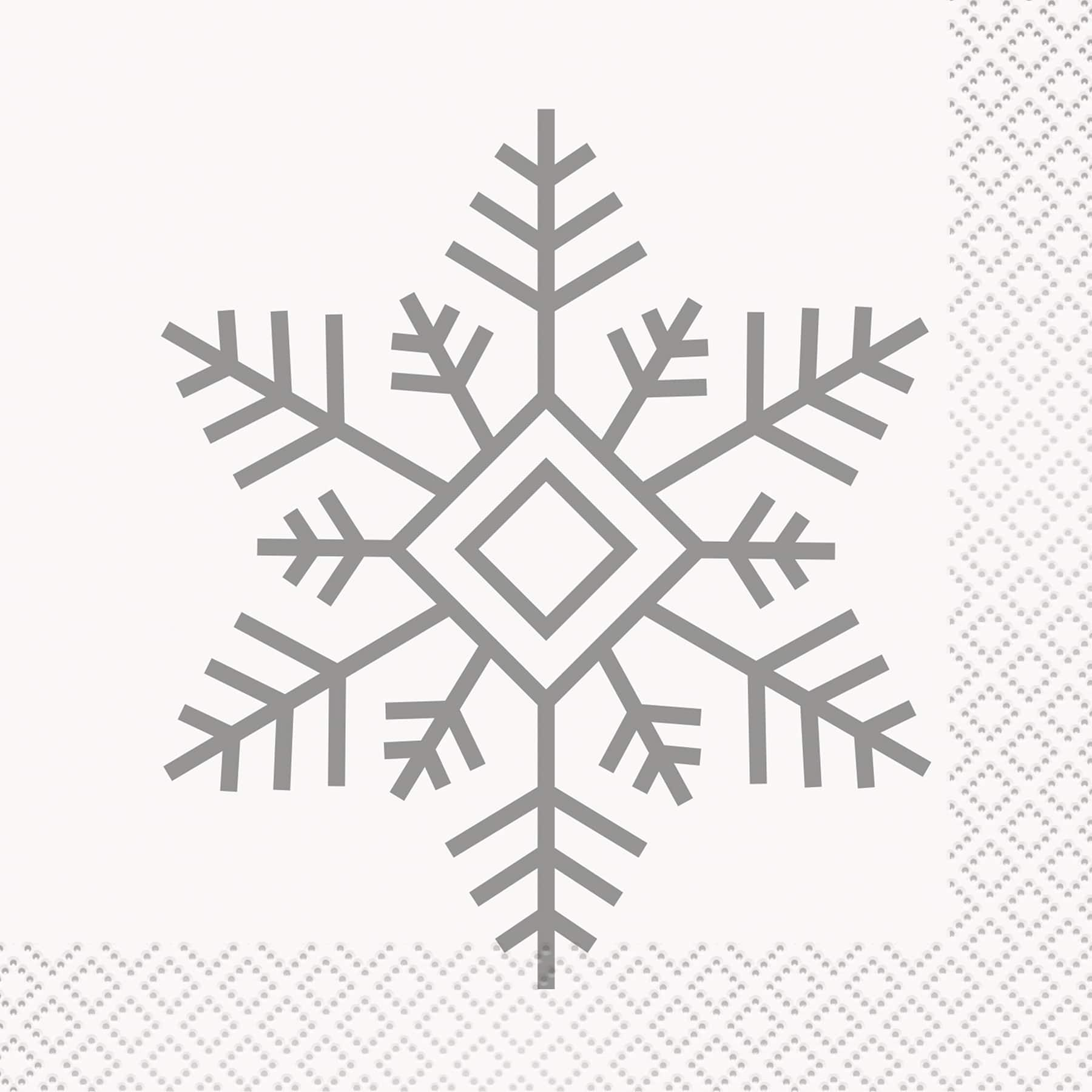 Holiday Treats Tree Snowflake Candy Cookies Christmas Party Beverage Napkins