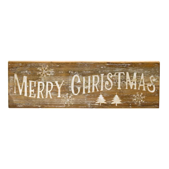 Wooden Merry Christmas Wall Sign By Melrose | Michaels�