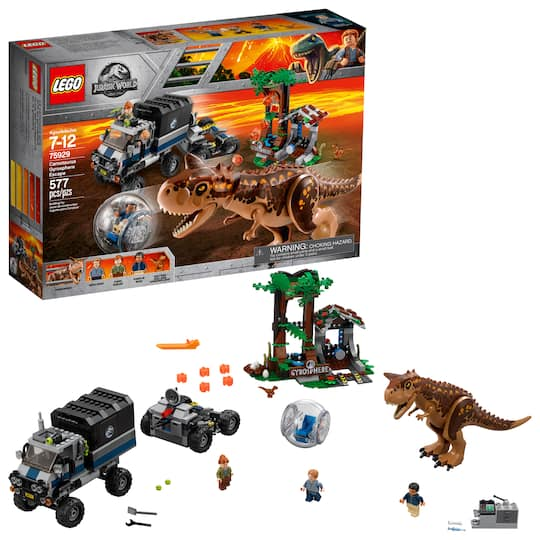 Find The Lego® Jurassic World™ Carnotaurus Gyrosphere