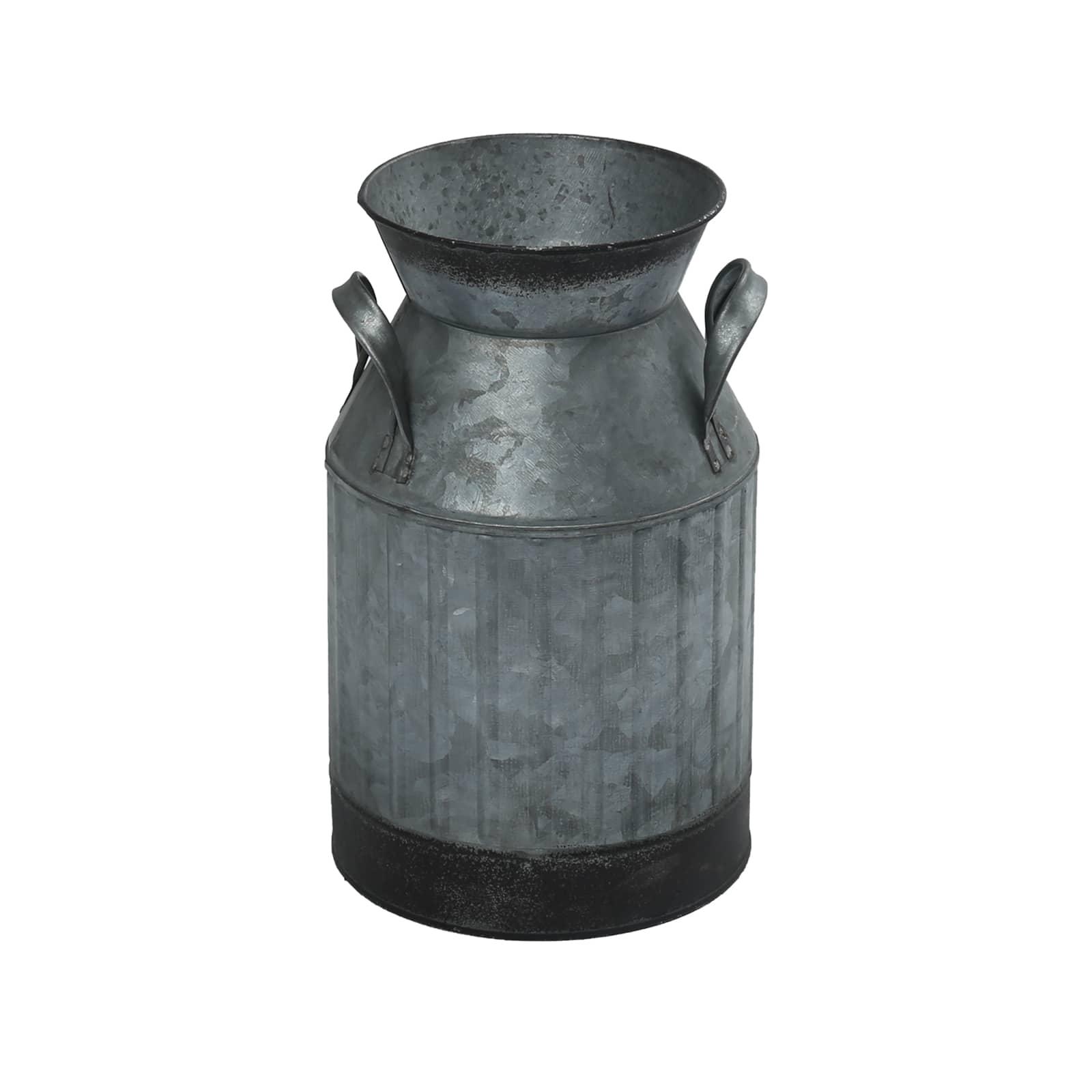 "8.5"" Galvanized Stained Milk Jar By Ashland® by Ashland"