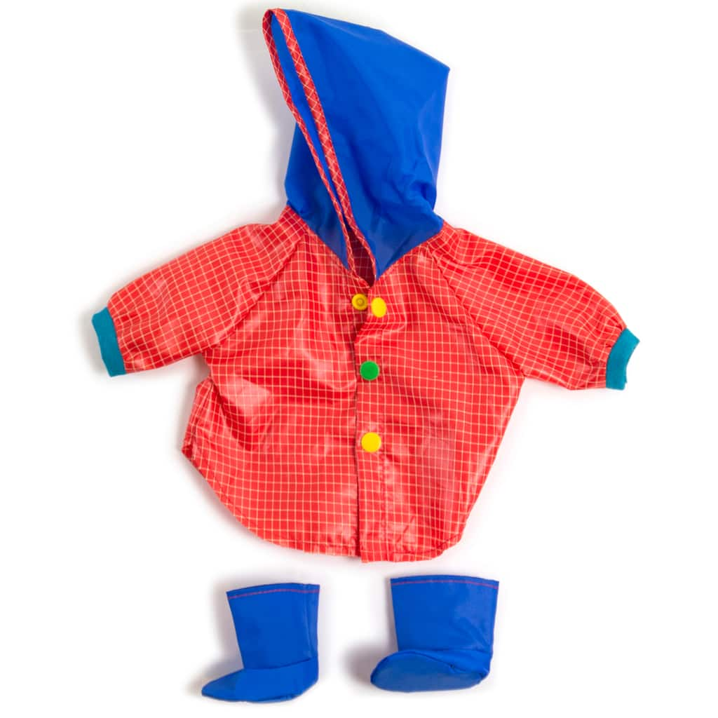 17c32d4caef Purchase the Miniland Multicolor Rain Coat & Boots Doll Clothes at ...