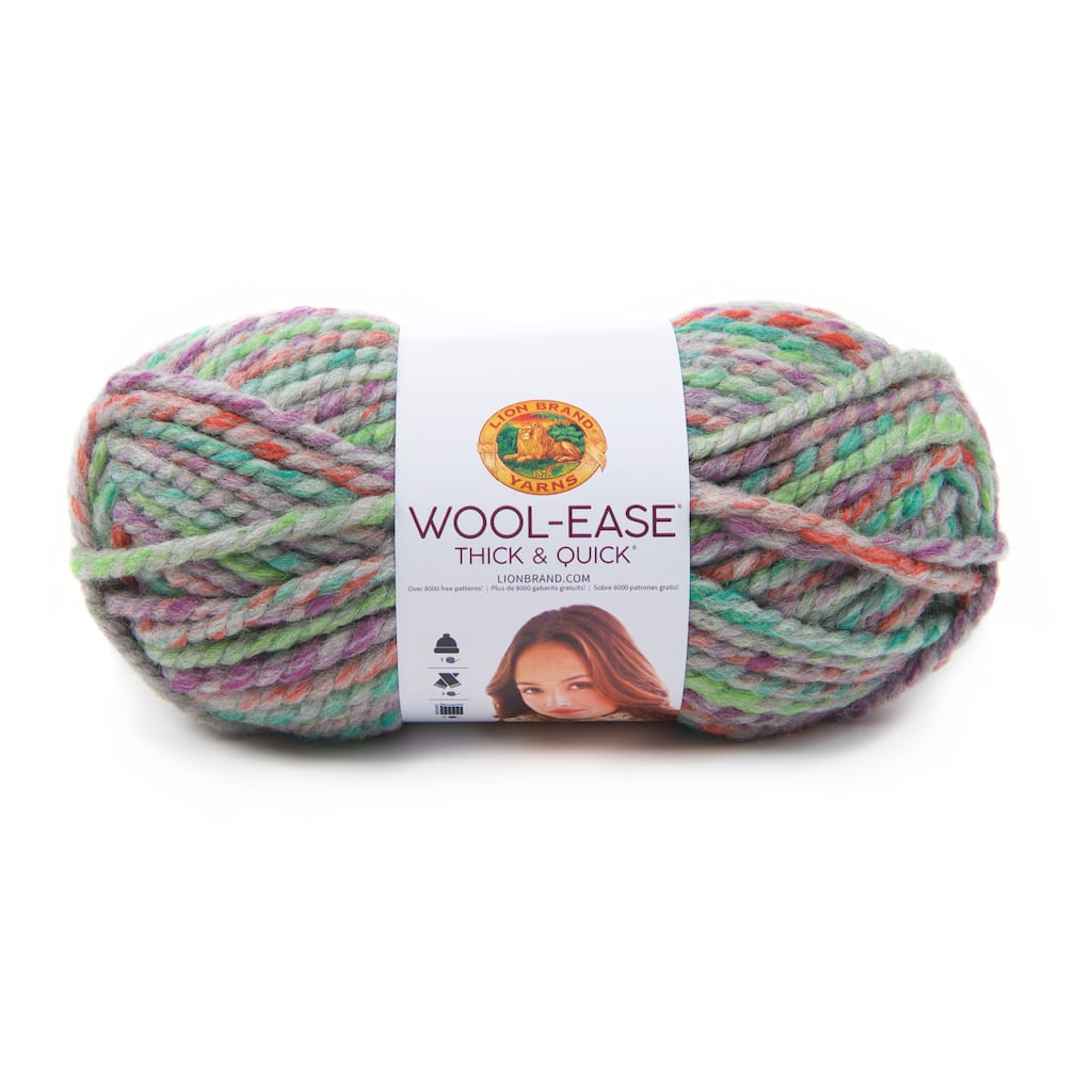 Lion Brand Wool-Ease Thick and Quick Yarn Blue Jay