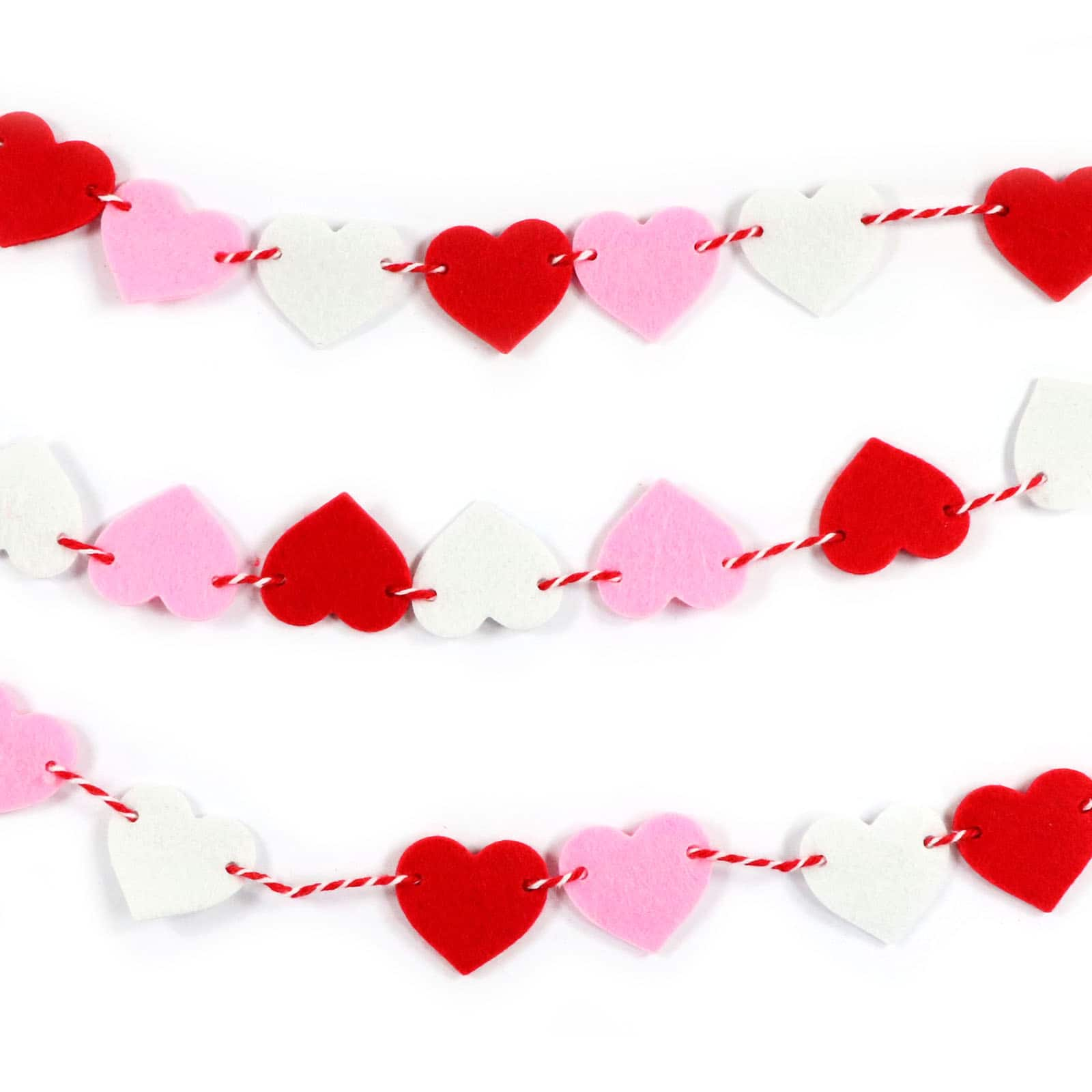9ft Valentine S Day Felt Heart Garland By Recollections Michaels