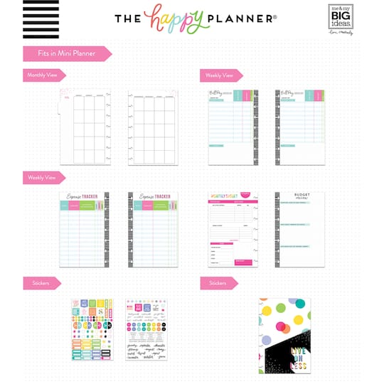 The Mini Happy Planner® Savings Goals 6 Month Extension Pack