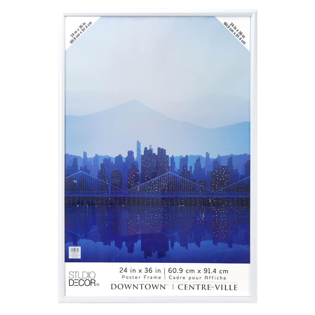 white 24 x 36 poster frame by studio decor