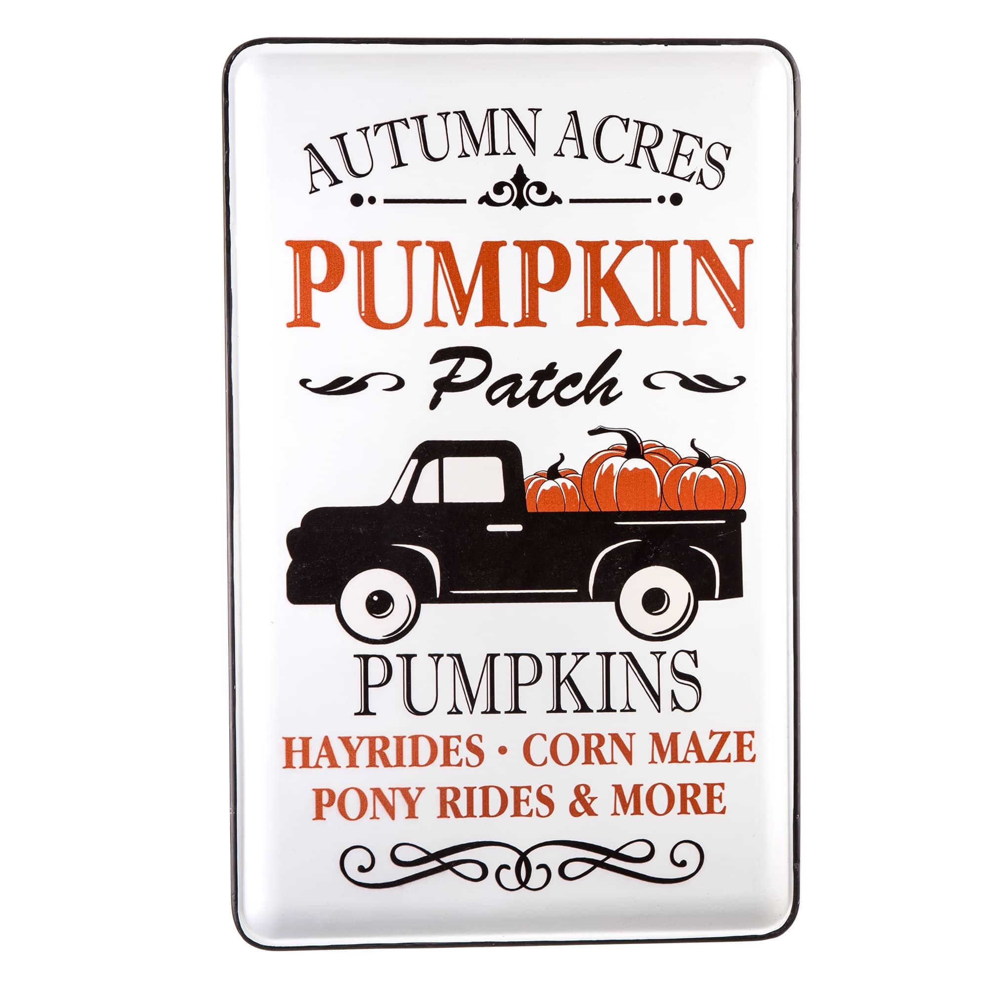 Glitzhome® Metal Autumn Acres Wall Sign by Glitzhome