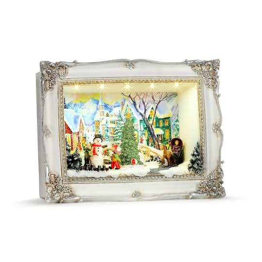 Mr. Christmas Village Animated Shadow Box Scenes in White | Michaels�