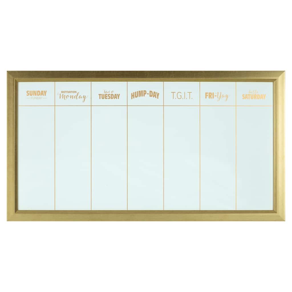 Gold Witty Week Wall Calendar by Ashland®