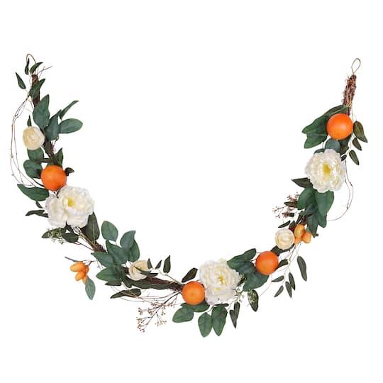 Find The 6ft Orange Floral Garland By Ashland 174 At Michaels