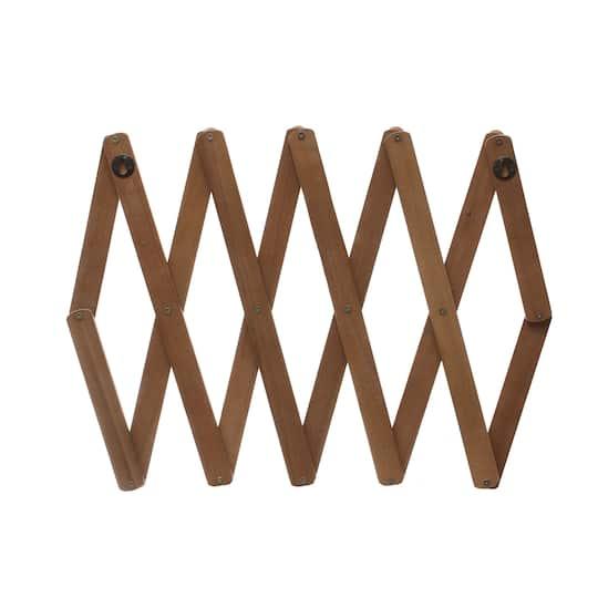 Wood Accordion Wall Coat Rack By, Accordion Style Wall Coat Rack