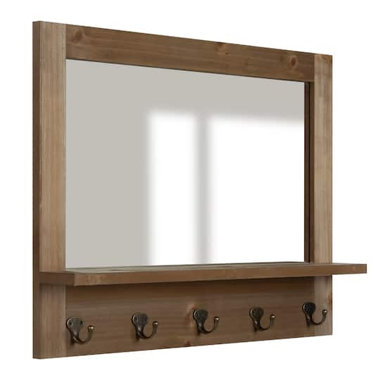 Buy the Natural Mirror with Frame and Hooks By Ashland® at Michaels