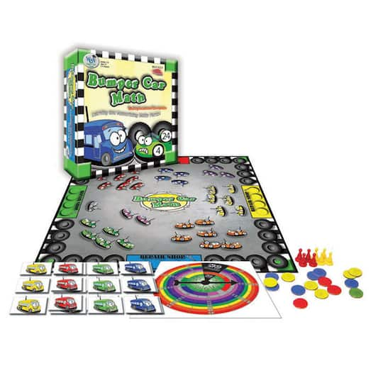Find The Bumper Car Math Board Game Multiplication Division At