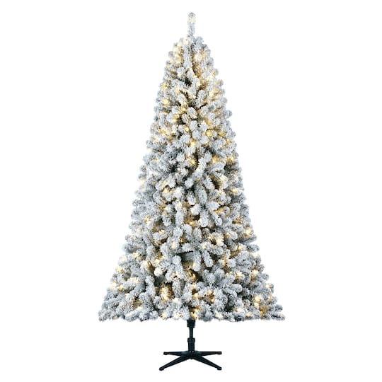 7 5ft Pre Lit Keystone Artificial Christmas Tree Color Changing Led Lights By Ashland