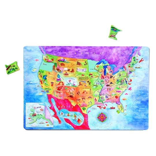 Dowling Magnets® Magnetic USA Map Puzzle