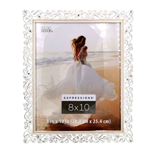 Silver Scroll Jeweled Frame Expressions By Studio Decor Michaels