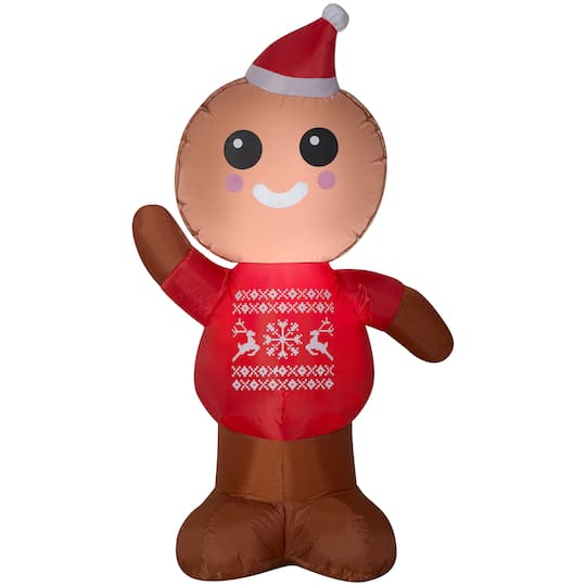 4ft Airblown Inflatable Christmas Gingerbread Man