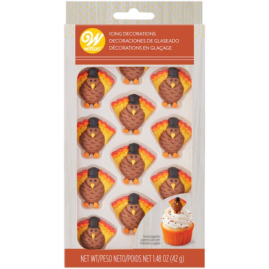 Wilton® Thanksgiving Turkey Icing Decorations | Michaels®