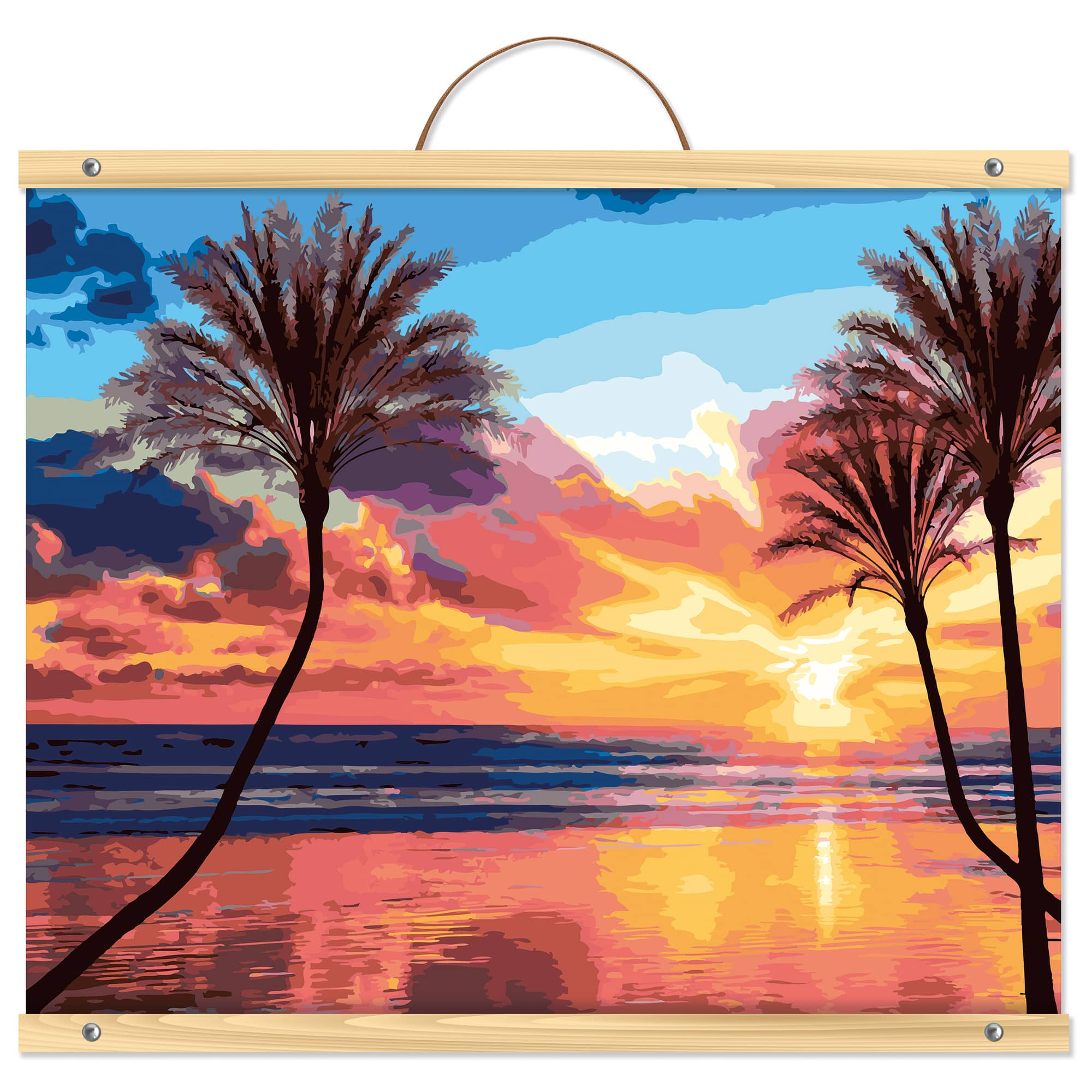Beach Sunset With Palm Trees Paint-by-Number Kit By Artist's Loft™  Necessities™ Michaels
