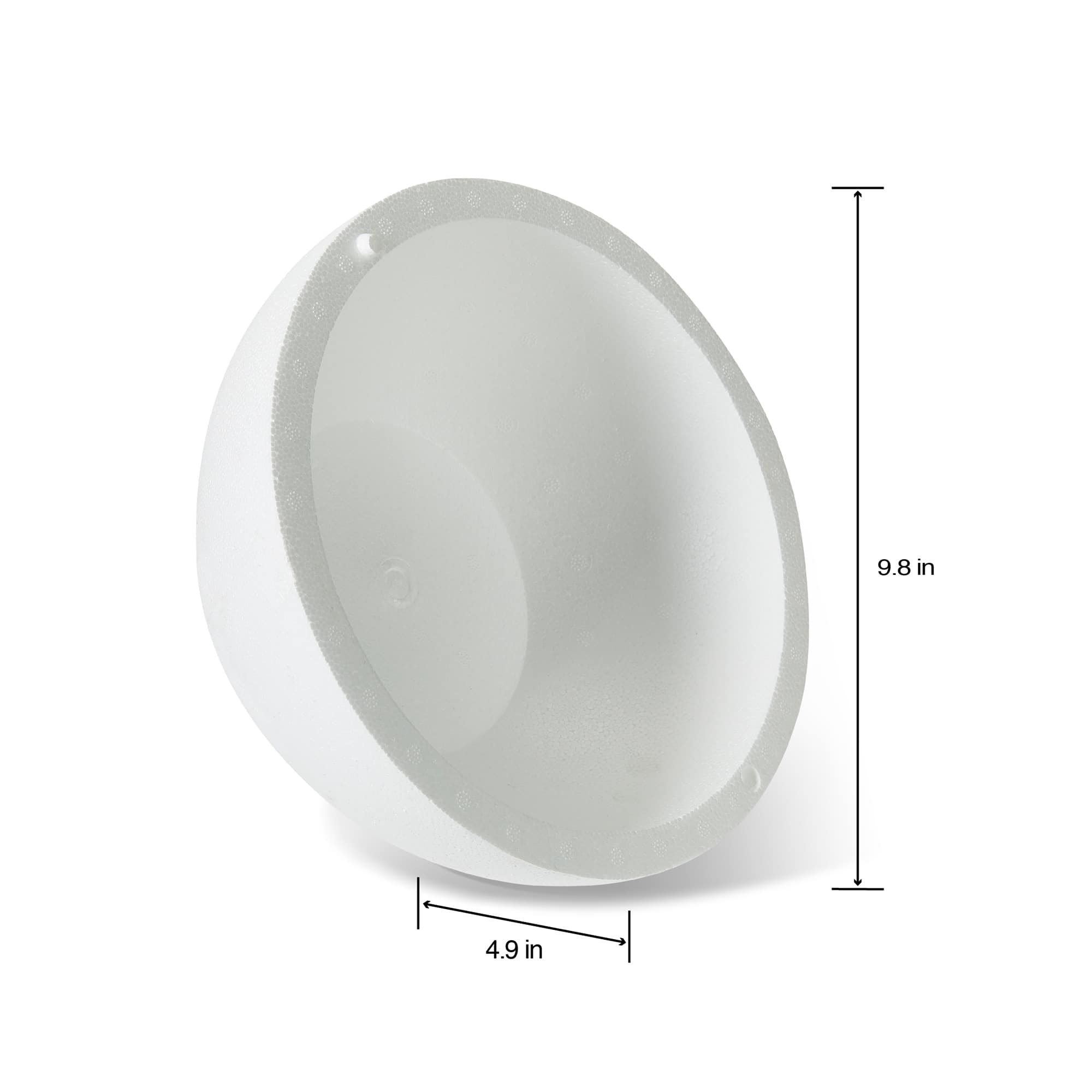Makes Large DIY Ornaments Presentation White Large Polystyrene Foam Hollow Half Ball for Arts and Craft Use Foam Half Ball and School Projects 12 x 12 x 6 Inches