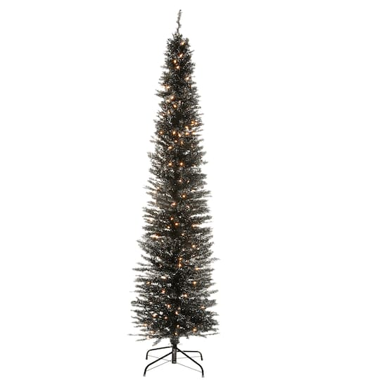 Black Artificial Christmas Trees: Purchase The 7ft. Pre-Lit Black Tinsel Artificial
